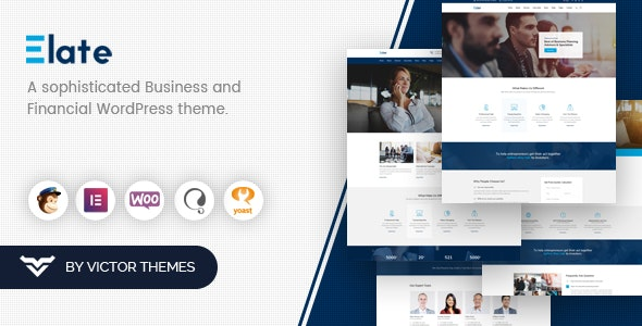 Elate 1.4.1 – Financial Consulting WordPress Theme