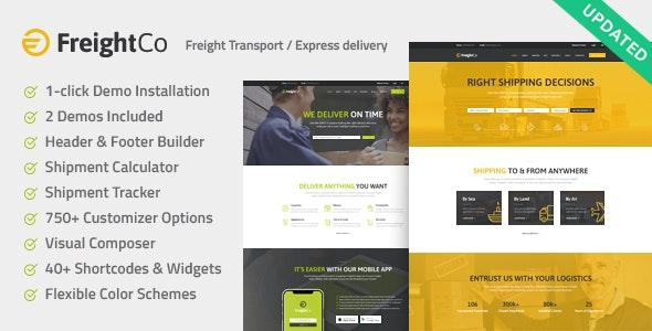 FreightCo 1.1.3 – Transportation & Warehousing Shipping WordPress Theme