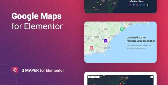 GMaper 1.0 – Google Maps for Elementor