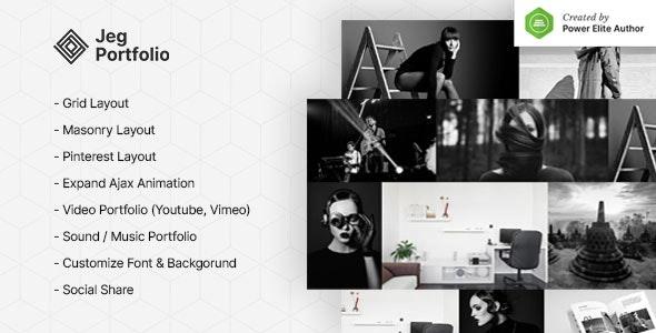 Jeg Portfolio 1.0.2 – Responsive Portfolio & Gallery Plugin For WordPress