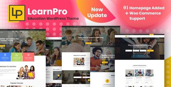 LearnPro 1.0 – Online Course Education WordPress Theme
