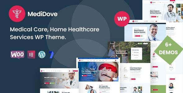 MediDove 2.1.0 – Medical Care, Home Healthcare Service WP Theme + RTL