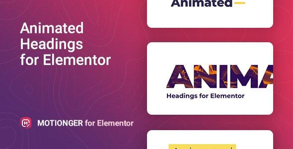 Motionger 2.0.1 – Animated Heading for Elementor