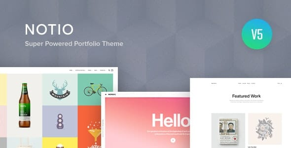 Notio 5.6.0.1 – Creative Portfolio WordPress Theme