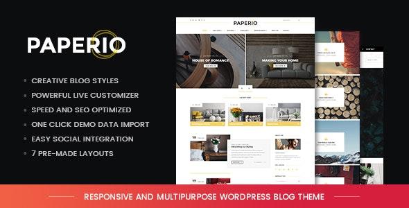 Paperio 1.11 – Responsive and Multipurpose WordPress Blog Theme