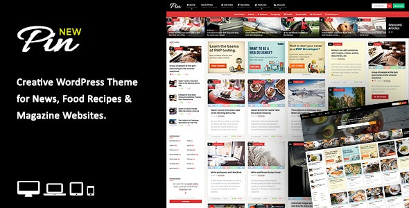 Pin 5.6 – Pinterest Style / Personal Masonry Blog / Front-end Submission