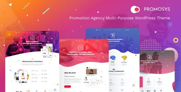 PromoSys 1.0.2 – Promotion Services Multi-Purpose WordPress Theme