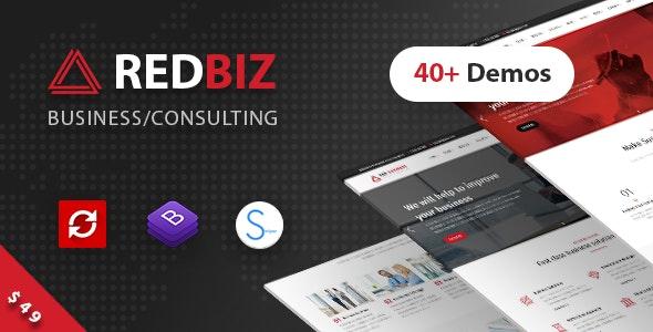 RedBiz 1.2.4 – Finance & Consulting Multi-Purpose WordPress Theme