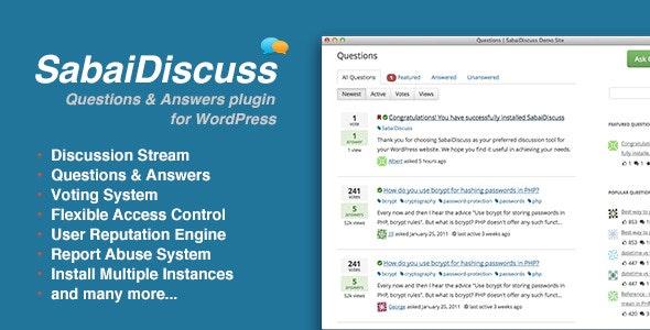 Sabai Discuss 1.4.11 – Q&A forum plugin for WordPress