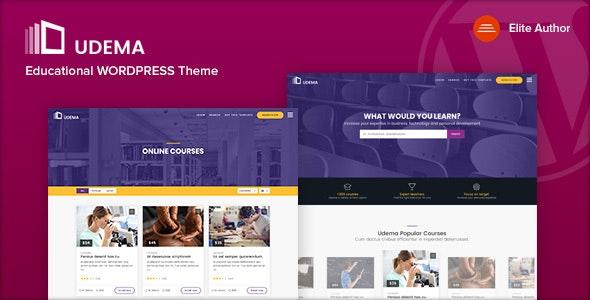 UDEMA 1.0 – Modern Educational WordPress Theme