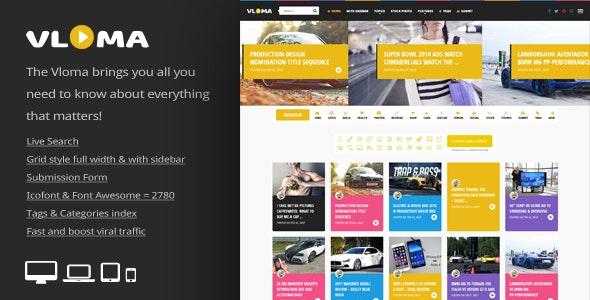Vloma Grid 2.7 – A Responsive WordPress Video Blog Theme