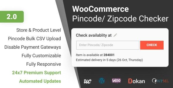 WooCommerce Pincode/ Zipcode Checker v2.0.3