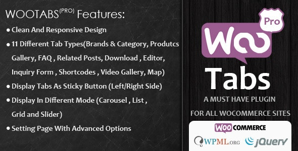 Woocommerce Tabs Pro 4.1 – Extra Tabs for Product Page