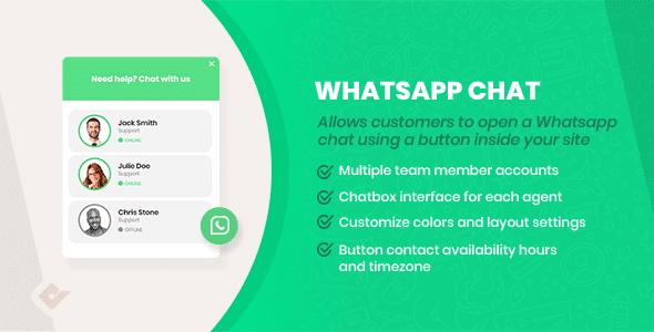 WordPress WhatsApp Chat Box v2.5.7