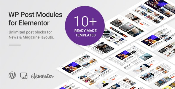 WP Post Modules for NewsPaper and Magazine Layouts v1.8.1 – Elementor Addon