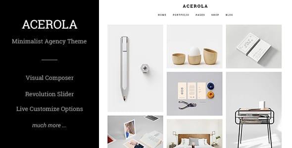 Acerola 1.6.4 – Ultra Minimalist Agency Theme