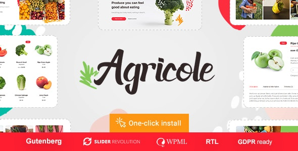Agricole 1.0.5 – Organic Food & Agriculture WordPress Theme