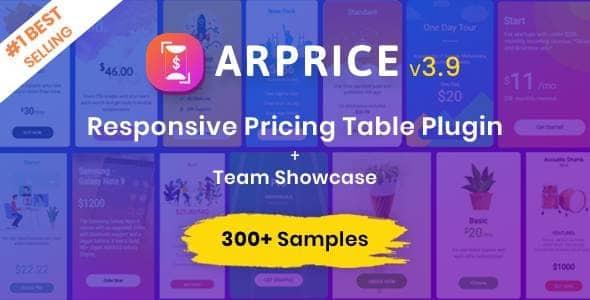 ARPrice 3.9 – WordPress Pricing Table Plugin