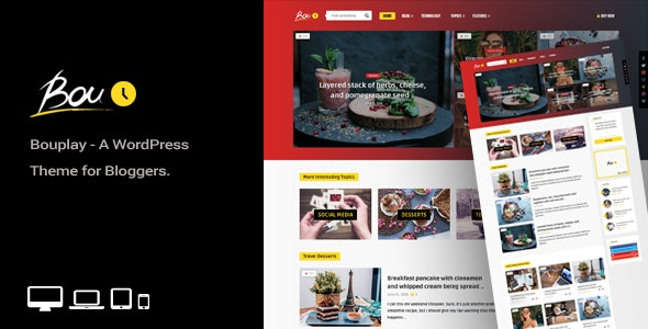 Bouplay WP 2.5 – A WordPress Theme for Bloggers