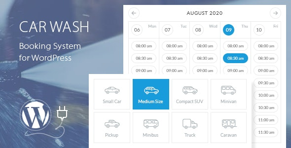 Car Wash 2.4 – Booking System For WordPress