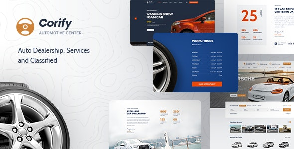 Corify 1.0.9 – WordPress Car Listings & Dealership Theme