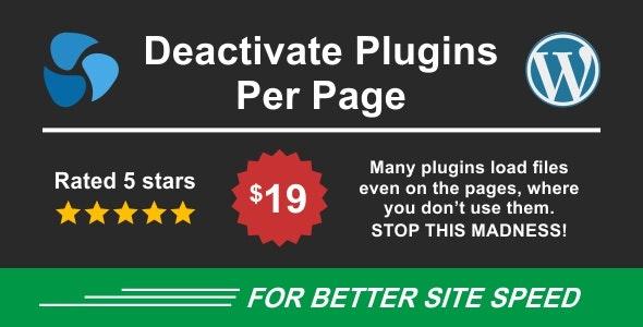 Deactivate Plugins Per Page 1.12.0 – Improve WordPress Performance