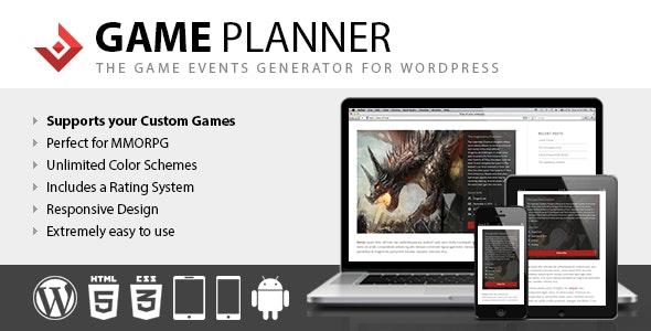 Game Planner 1.20 – WordPress Plugin