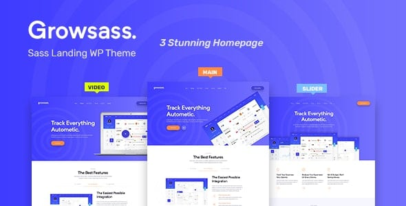 Growsass 1.0.6 – Software Landing Page WordPress Theme