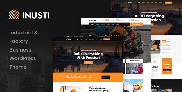 Inusti 1.0.0 – Factory & Industrial WordPress Theme