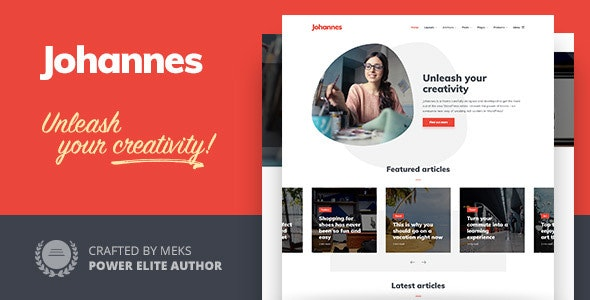 Johannes 1.3.3 – Personal Blog Theme for Authors and Publishers