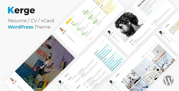 Kerge 3.1.3 – CV Resume Theme