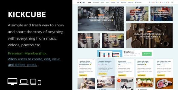 KICKCUBE 3.2  Membership & User Content Sharing Theme