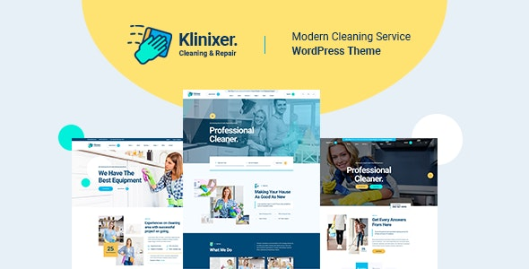 Klinixer 1.0.1 – Cleaning Services WordPress Theme + RTL