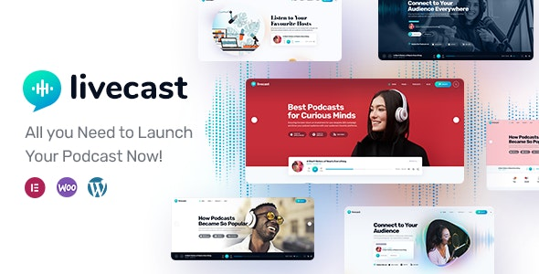 Livecast 1.0.3 – Podcast Theme