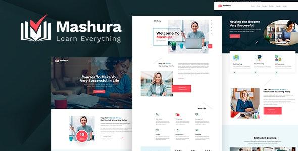 Mashura 1.01 – LMS Education & Online Courses Theme