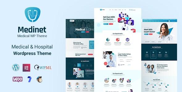 Medinet 2.0.1 – Medical and Health WordPress Theme +RTL