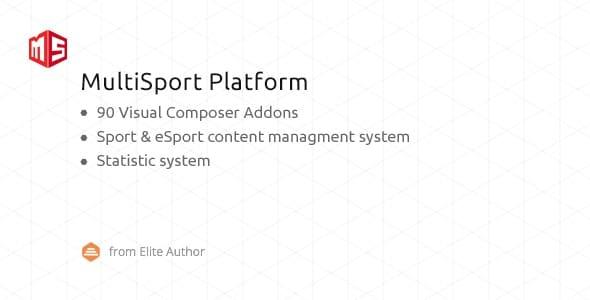 MSP 4.1.19 – MultiSport & eSport WordPress plugin with 90 Visual Composer addons