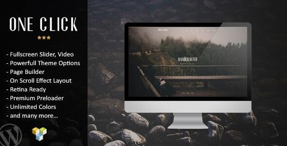 One Click 1.0 – Parallax One Page WordPress Theme
