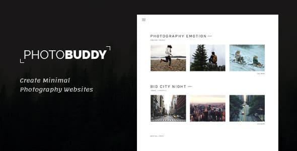 PhotoBuddy 1.0.3 – Photography WordPress Theme