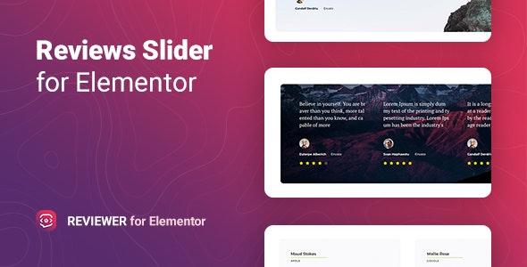 Reviewer 1.0 – Reviews Slider for Elementor