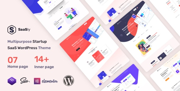 SaaSly 1.0.0 – Startup Landing WordPress Theme