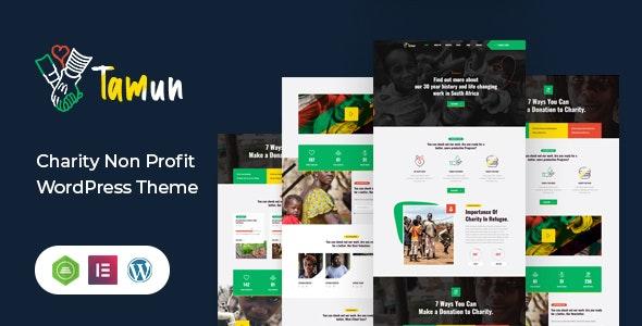 Tamun 1.1 – Fundraising WordPress Theme