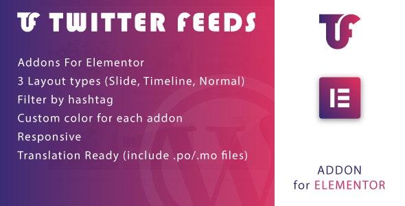 Twitter Feeds for Elementor WordPress Plugin v1.0