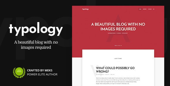 Typology 1.7.1 – Minimalist Blog & Text Based Theme for WordPress