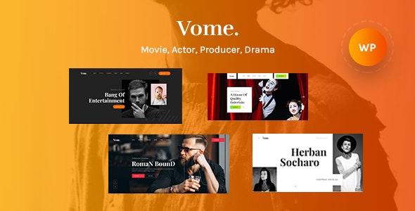Vome 1.0.6 – Multipurpose Film Studio Movie Production WordPress Theme