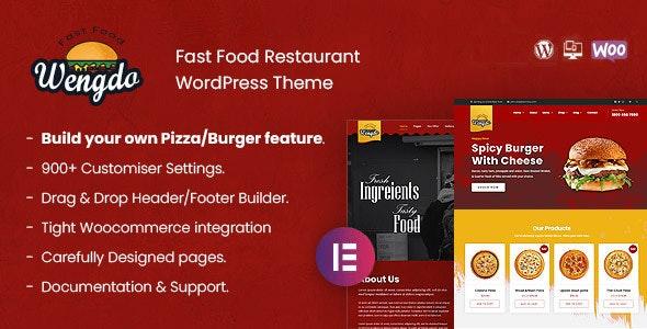 Wengdo 1.0 – Fastfood WordPress Theme