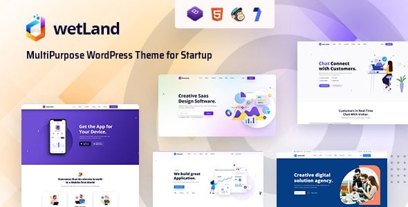 Wetland 1.0.2 – MultiPurpose WordPress Theme for Startup