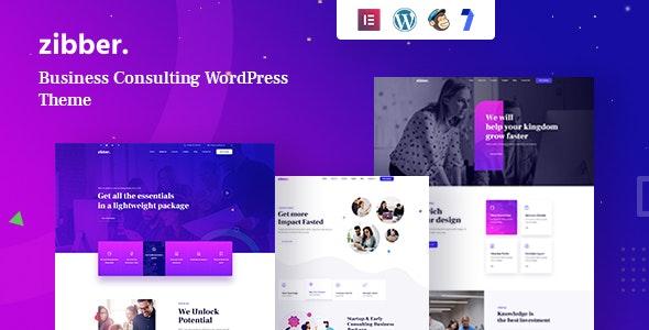 Zibber 1.0.8 – Consulting Business WordPress Theme + RTL