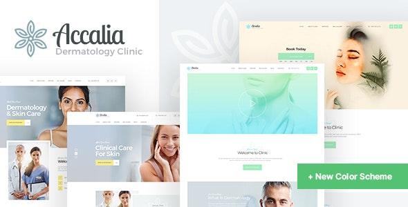 Accalia 1.4.0 – Dermatology Clinic & Cosmetology Center Medical WordPress Theme + Elementor