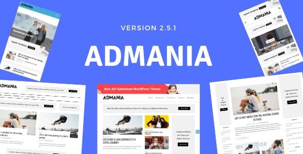 Admania 2.5.1 – Adsense WordPress Theme With Gutenberg Compatibility
